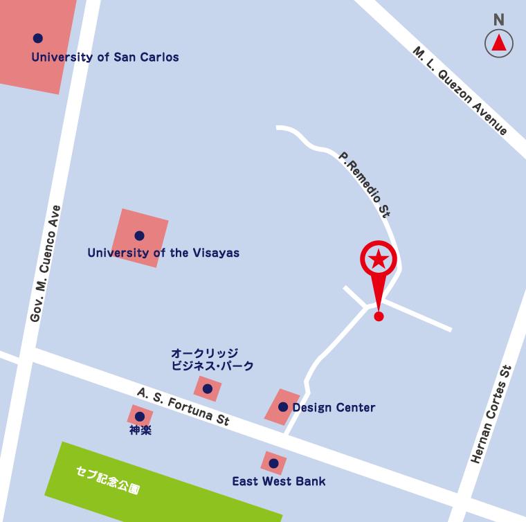 サイバーテック セブ ITアウトソーシングセンター周辺地図